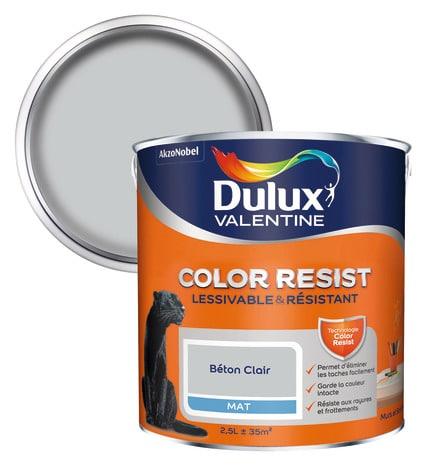 Color resist - Dulux valentine - Peinture intérieure murs et boiseries - 2.5L - nacre - Achat _ Vente peinture - vernis Peinture mate Color Resist mur - Color deco - nimes